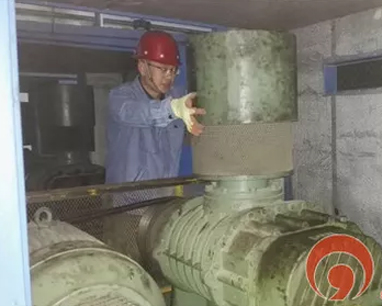 Careful Maintenance of Roots blower in Qingdao West Coast Water Company