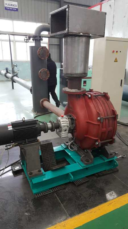 Dicheng mute multi-stage centrifugal blower test machine succeeded