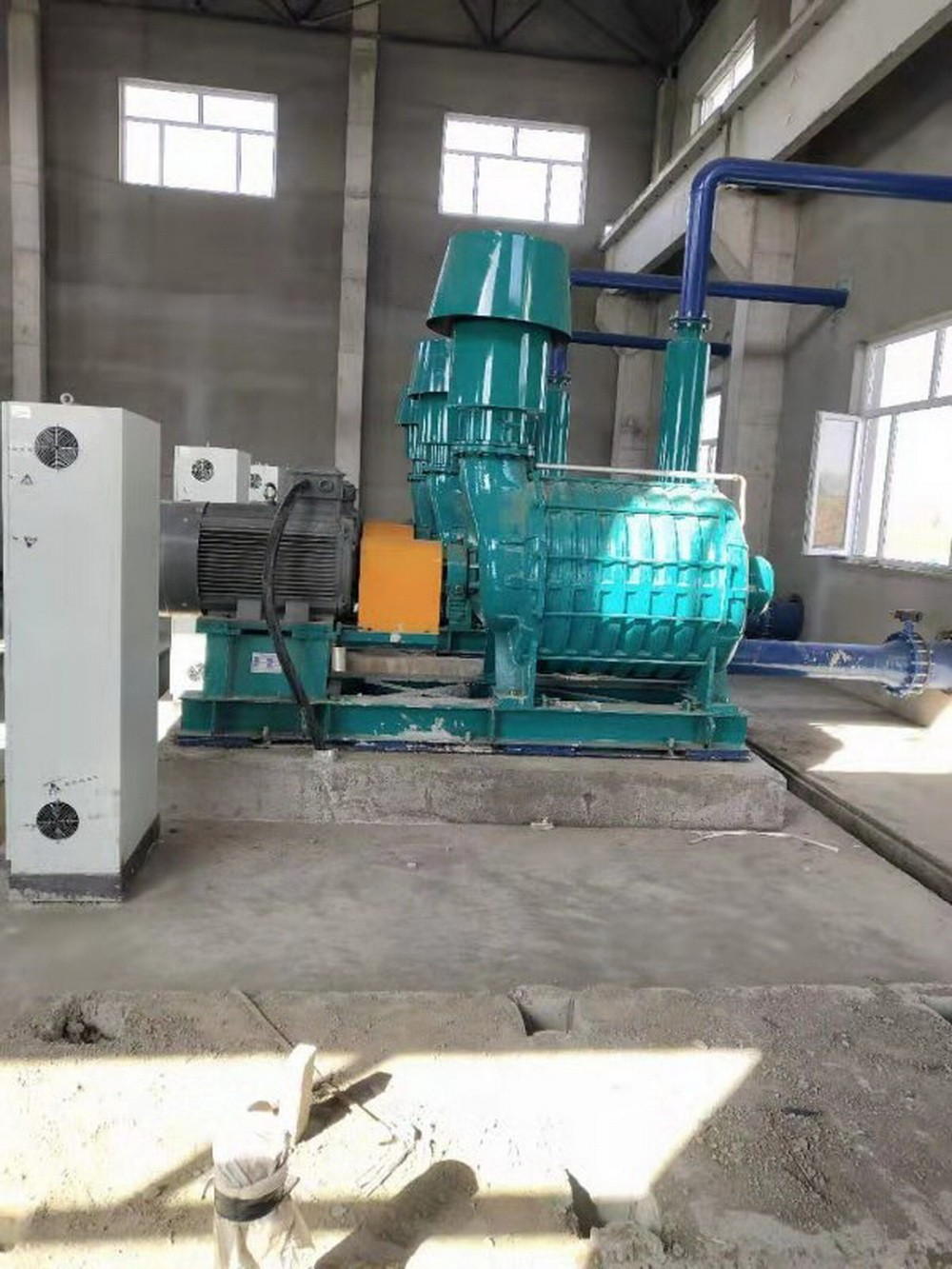 Field application of multistage centrifugal blower (turbo blower)