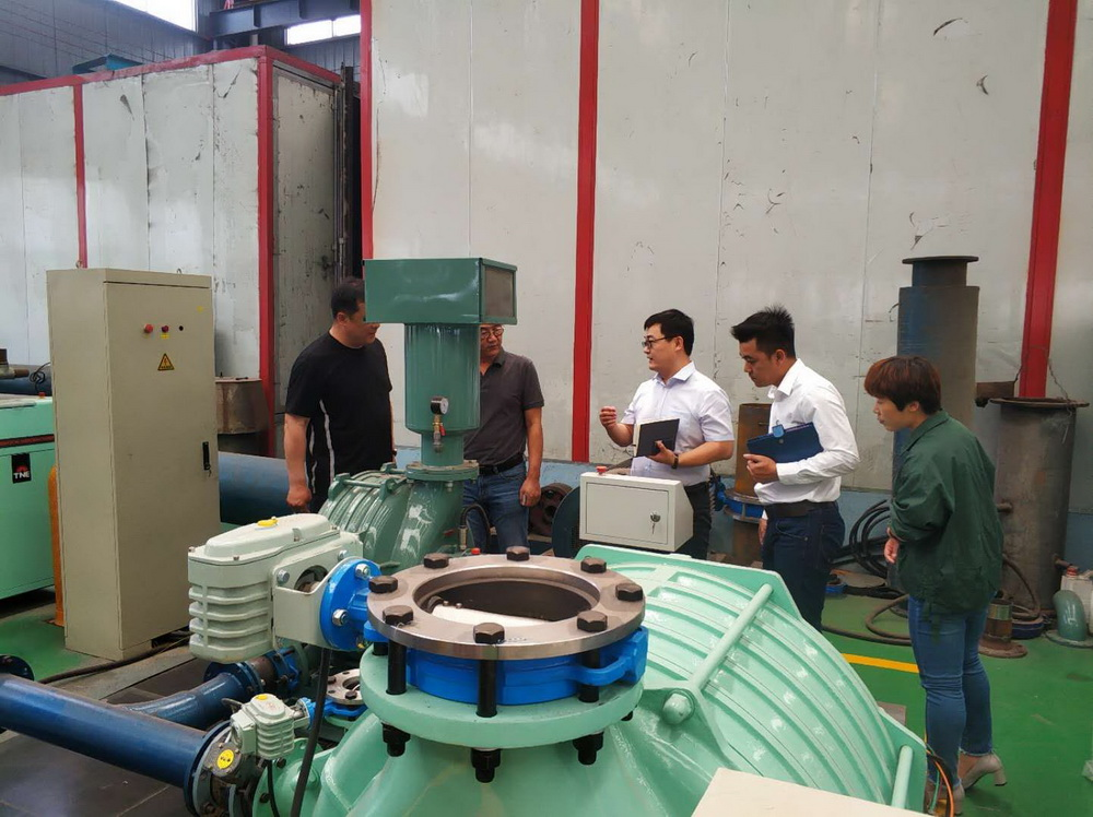 Thailand Customers Visit Dacheng Machinery Multi-stage Centrifugal blower