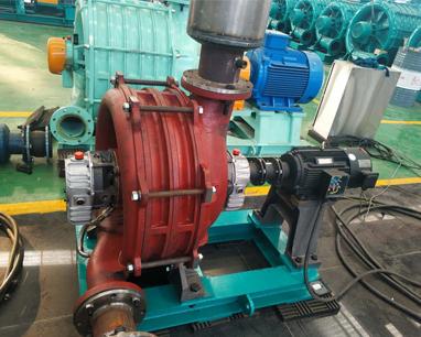 Dicheng mute multi-stage centrifugal blower test machine succeeded