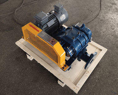 Correct installation method of melt blown cloth Roots Blower